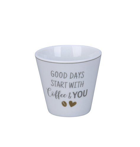 "Espressotasse ""Good days..."" von Krasilnikoff"