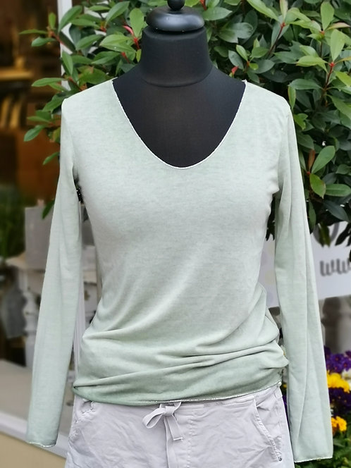 Leichtes Shirt Lindgrün - One Size L/XL (40-46)
