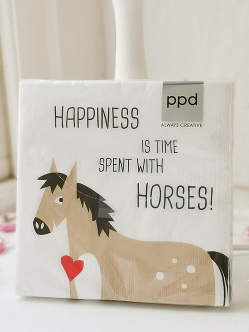 """Serviette """"All you need is love and a horse"""""""