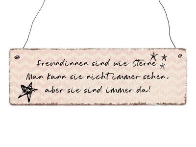 """Schild """"Freundinnen sind wie Sterne..."""""""