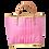 Thumbnail: Rice - Einkaufskorb, Rosa mit weißen Pünktchen - Groß