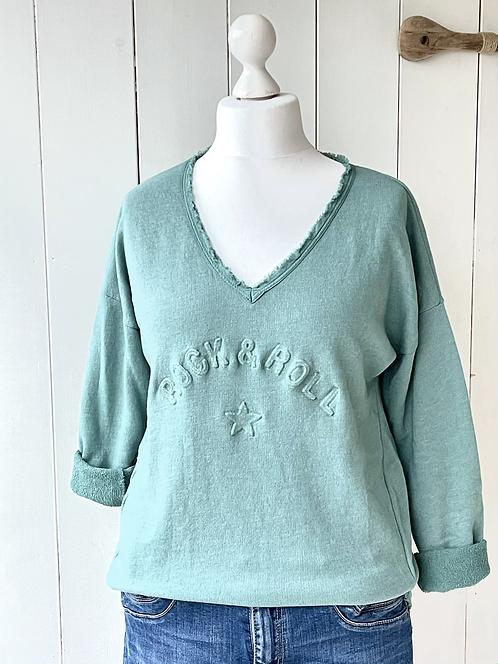 Sweatshirt - Rock'n'Roll - Salbei-Grün