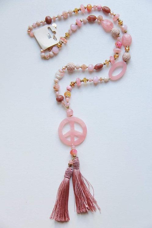 Sommerkette mit rosa Peacezeichen