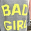 "Thumbnail: Long-Pullover ""Bad Girl"" - Blau-Grau"