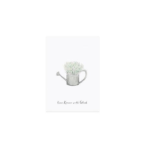 Postkarte von Eulenschnitt - Kanne voll Glück