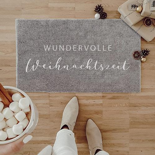 """Eulenschnitt - """"Wunderbare Weihnachtszeit"""" Waschbare Fußmatte"""