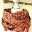 Thumbnail: Halstuch - Orangebraun mit Paisley-Muster