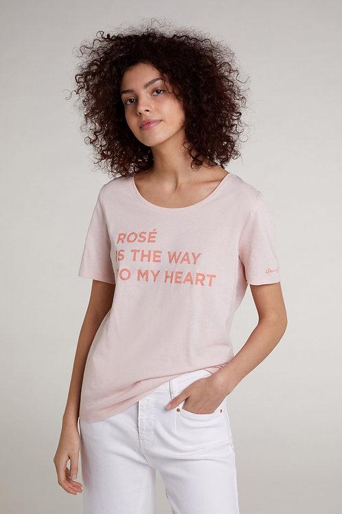 Oui - T-Shirt mit Schriftzug