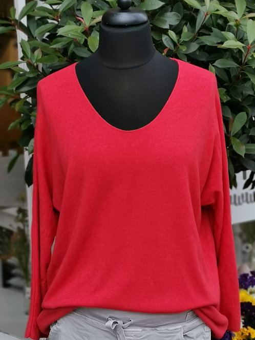 Festes Shirt Rot - One Size