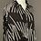 Thumbnail: Studio - Schwarze Longbluse mit weißen Streifen und Kragen