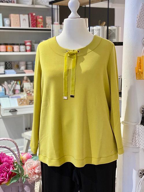 Frapp - Softes Sweatshirt mit Samtbändern - Goldgelb