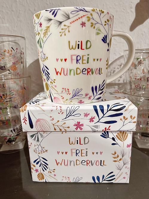 """Tasse """"Wild, frei und wundervoll"""""""