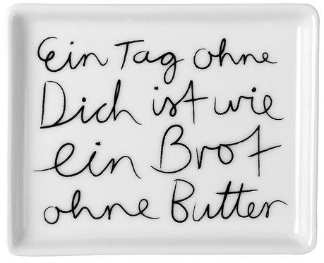 """RÄDER - Butterdose """"Ein Tag ohne dich... """" - Klein"""