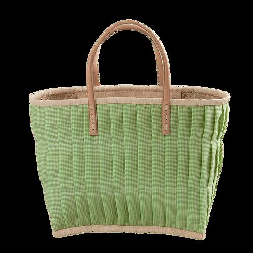 Rice - Einkaufskorb, Apfelgrün, Vichy - Groß