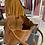Thumbnail: Ledershopper mit geprägten Kroko-Leder Cognac