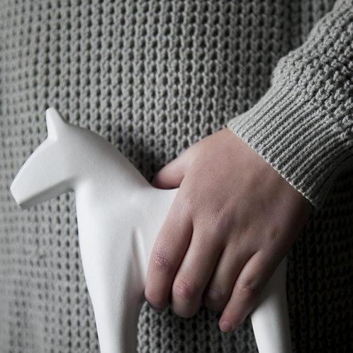 Dala-Pferd in Weiß - GROSS