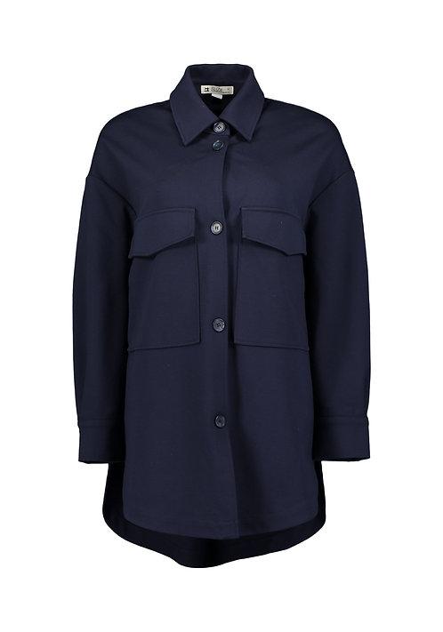 Suza - Blaue Oversized Bluse