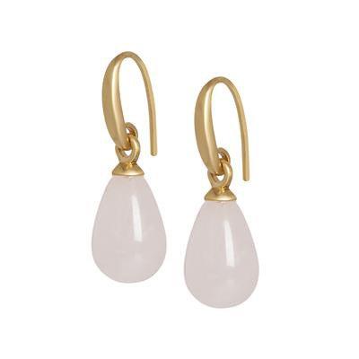 Sence - Rosen Quartz Ohrringe Gold