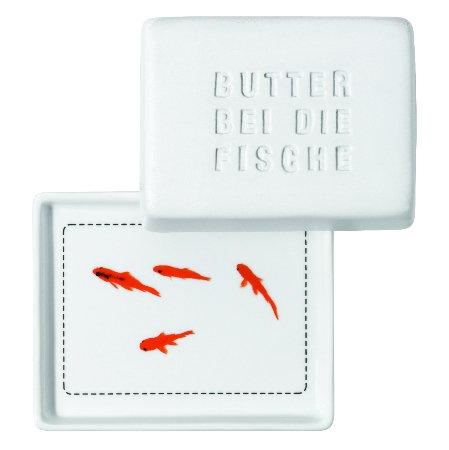 """RÄDER - Butterdose """"Butter bei die Fische"""" - Klein"""