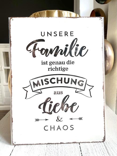 """Schild """"Unsere Familie..."""""""