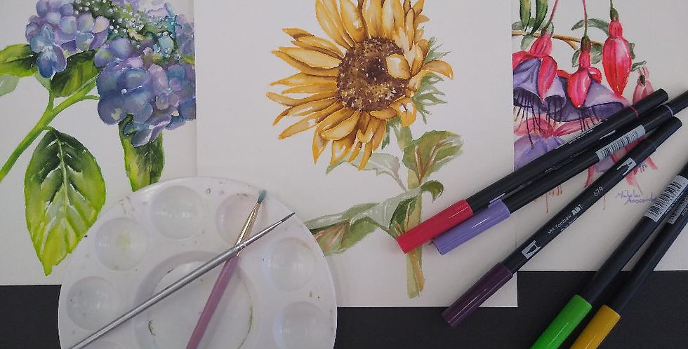 Watercolor Markers and Pencils September 24th