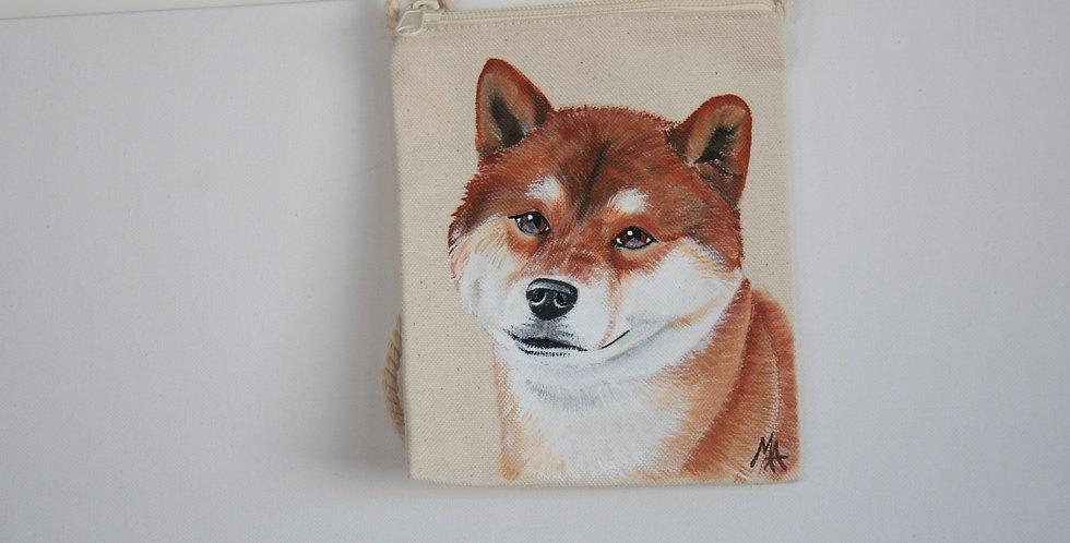Shiba Inu Canvas Pouch