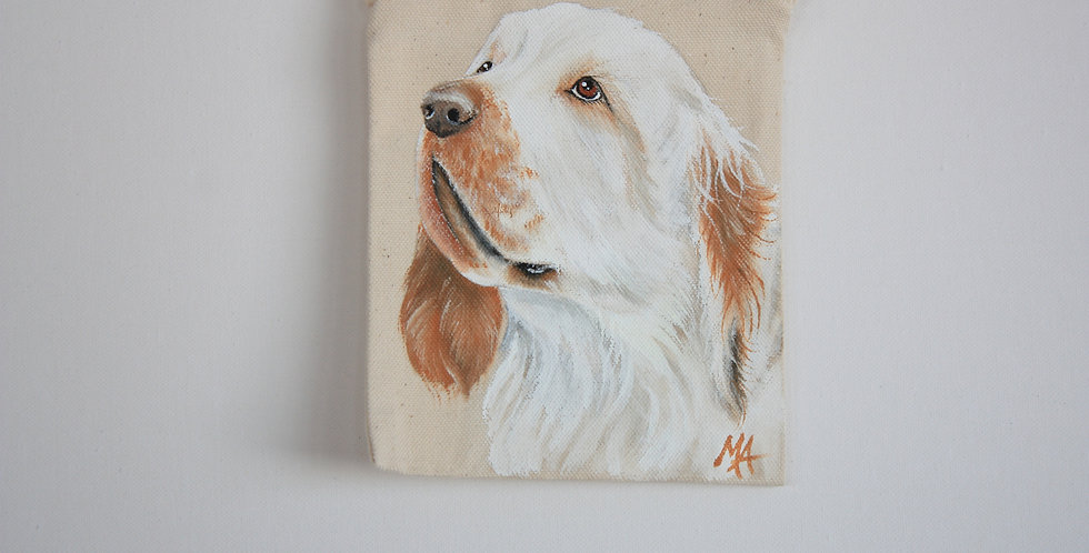 Clumber Spaniel Canvas Pouch