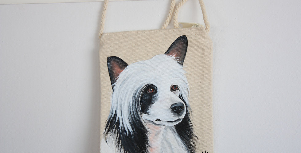 Chinese Crested Canvas Pouch