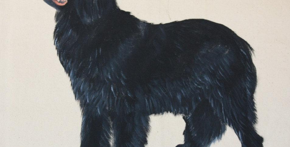 Newfoundland Canvas Tote Bag (Black full body)