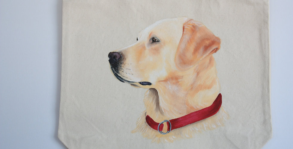Yellow Labrador Retriever CanvasTote bag
