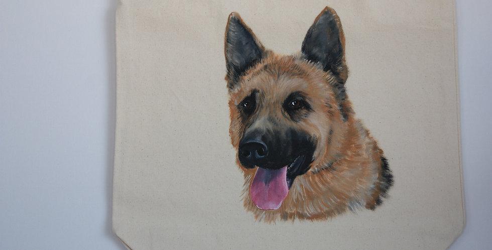 German Shepherd Canvas Tote