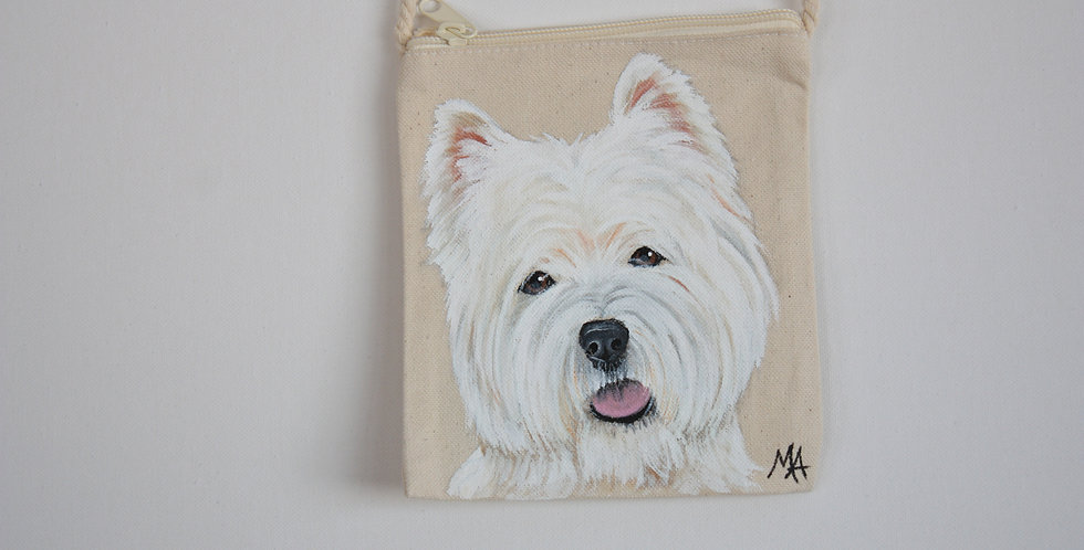West Highland White Terrier Canvas Pouch