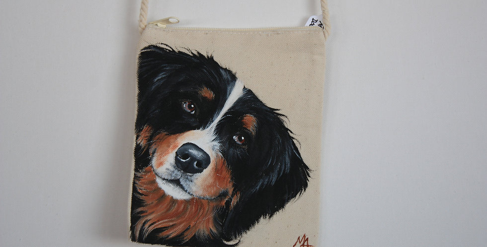 Bernese Mountain Dog Canvas Pouch