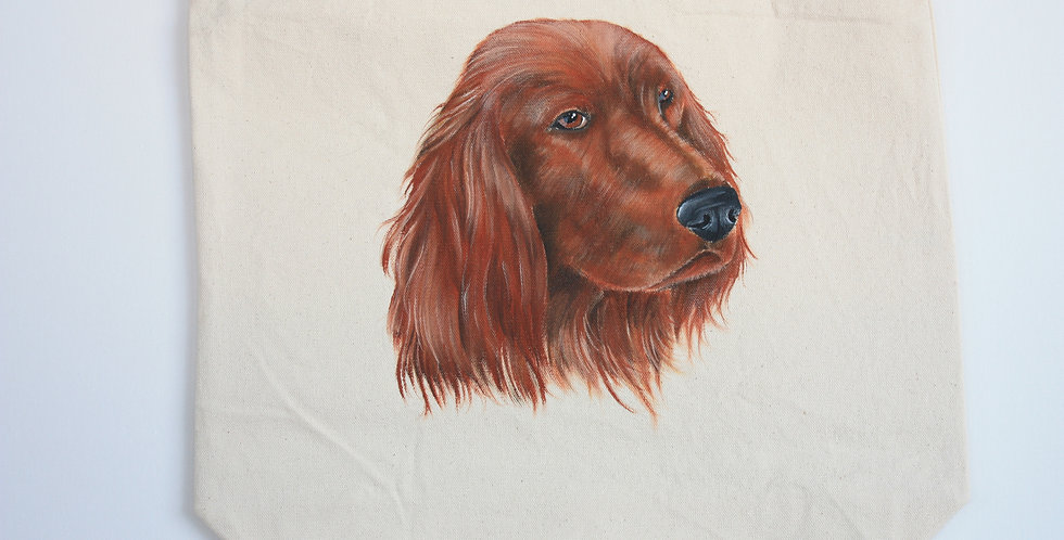 Irish Setter Canvas Tote Bag
