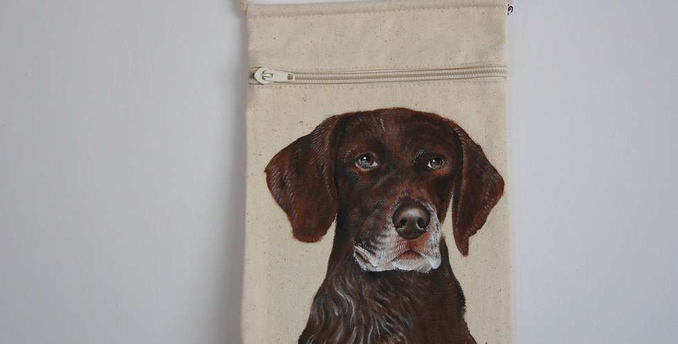 German Short Haired Pointer Canvas Pouch