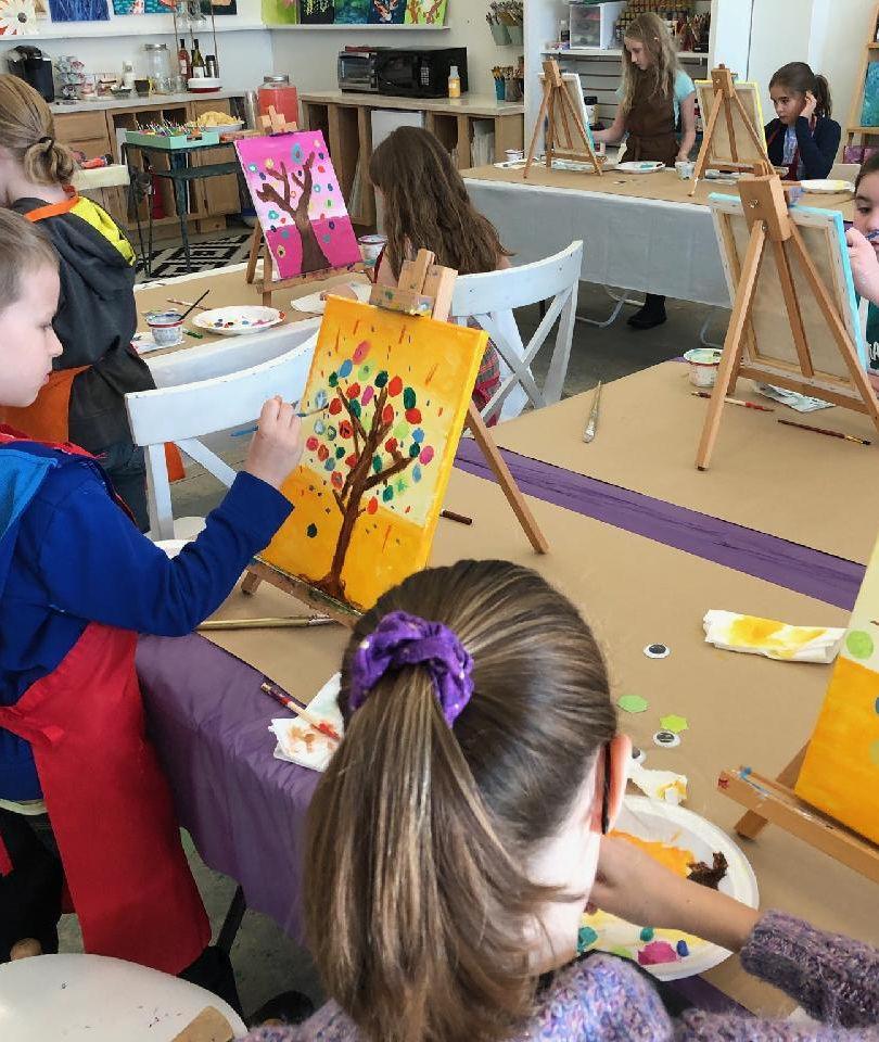 Kid's paint party