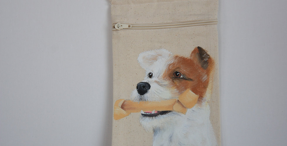 Jack Russell Canvas Pouch