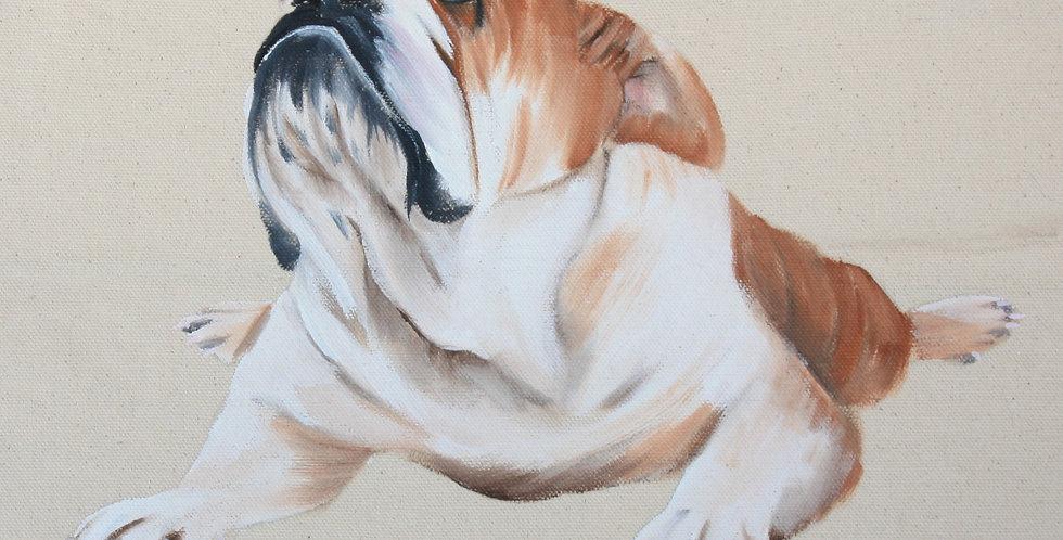Bulldog Canvas Tote Bag