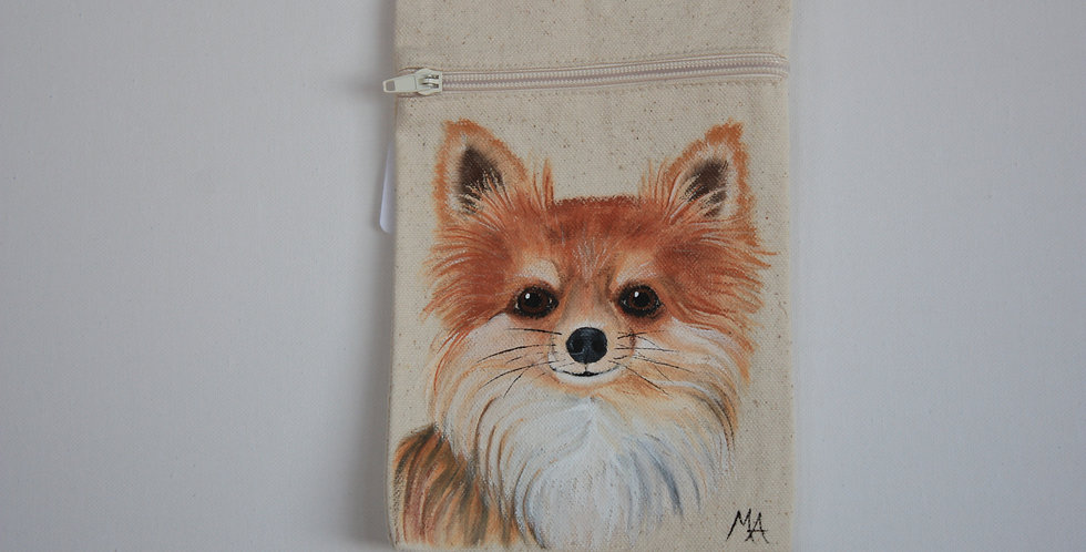 Long Haired Chihuahua Canvas Pouch
