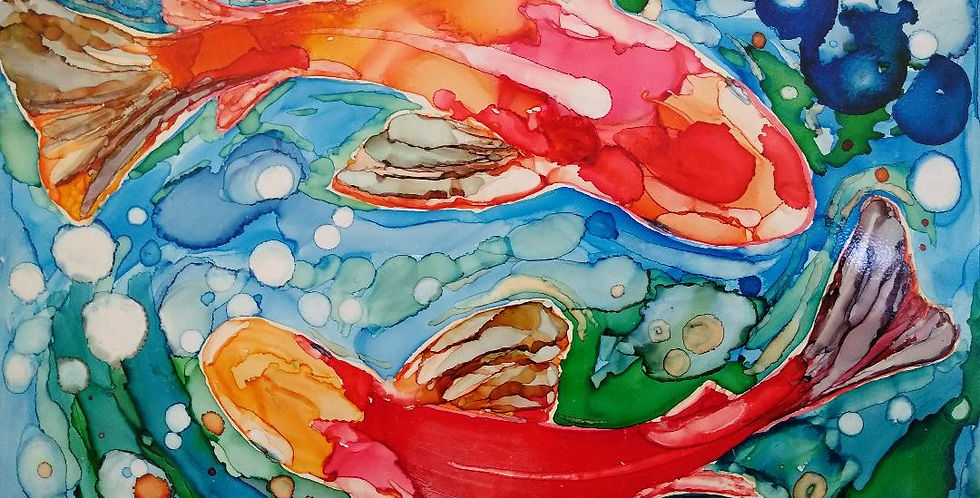 Alcohol Inks Class April 22nd 6-8:00