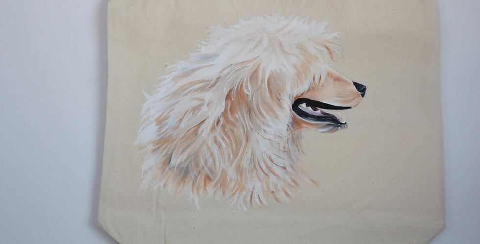 Portuguese Water Dog Canvas Tote (White Portrait)