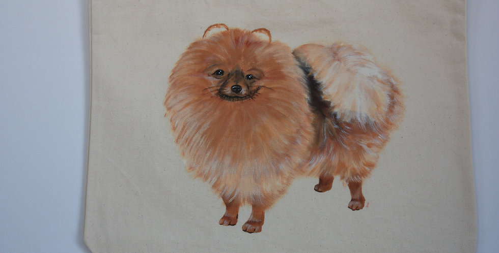 Pomeranian Canvas Tote Bag