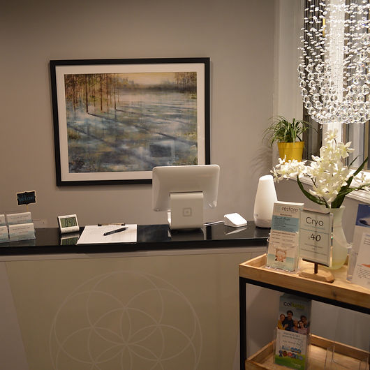 Lobby at Restore Therapy Spa