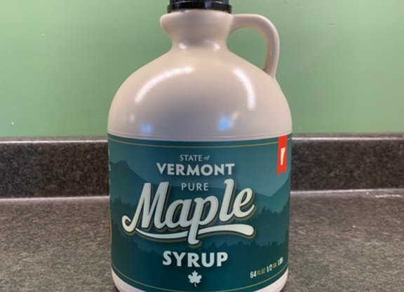 Half Gallon Pure Vermont Maple Syrup