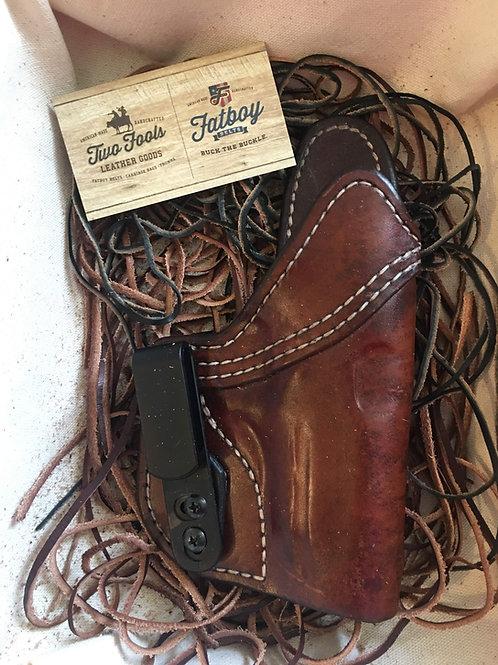 IWB  Quik Custom Exotic Leather Holster
