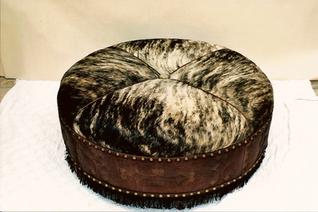 Custom large ottoman