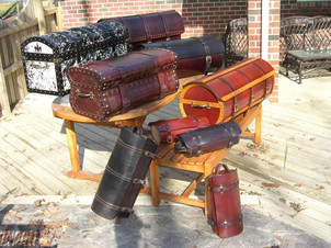 Handmade Leather trunks