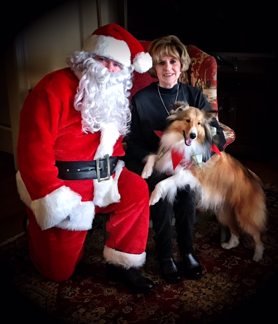 Bentley with Santa