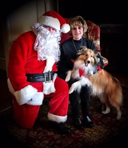 Bentley with Santa
