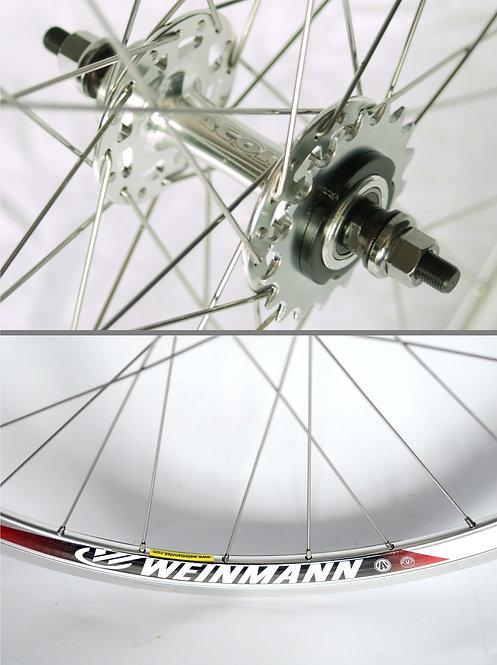 Solo 700c Wheel: Silver Rear